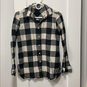 J. Crew black/white flannel, size 4